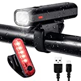 Cheap ZUKVYE USB Rechargeable Bike Light Set Powerful Lumens Bicycle Headlight Free Tail Light, LED Front and Back Rear Lights Easy to Install for Kids Men Women Road Cycling Safety Flashlight