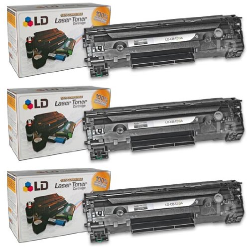 LD © HP Compatible CB436A (36A) Set of 3 Black Laser Toner Cartridges for the M1522/P1505 Printers, Office Central