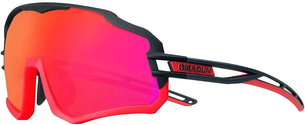 GIEADUN Gafas De Sol Polarizadas para Ciclismo con 3 Lentes Intercambiables UV400 Y Montura De TR-90, Gafas para MTB Bicicleta Montaña De Protección UV