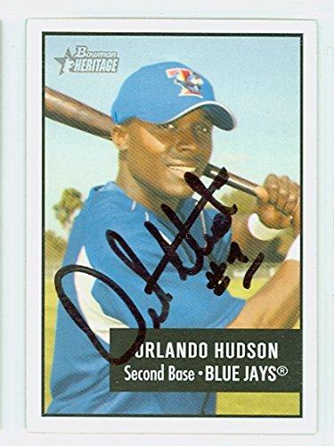 Orlando Hudson AUTOGRAPH 2003 Bowman Heritage 1956 Phantom Bowman Design Toronto Blue - Orlando Phantoms