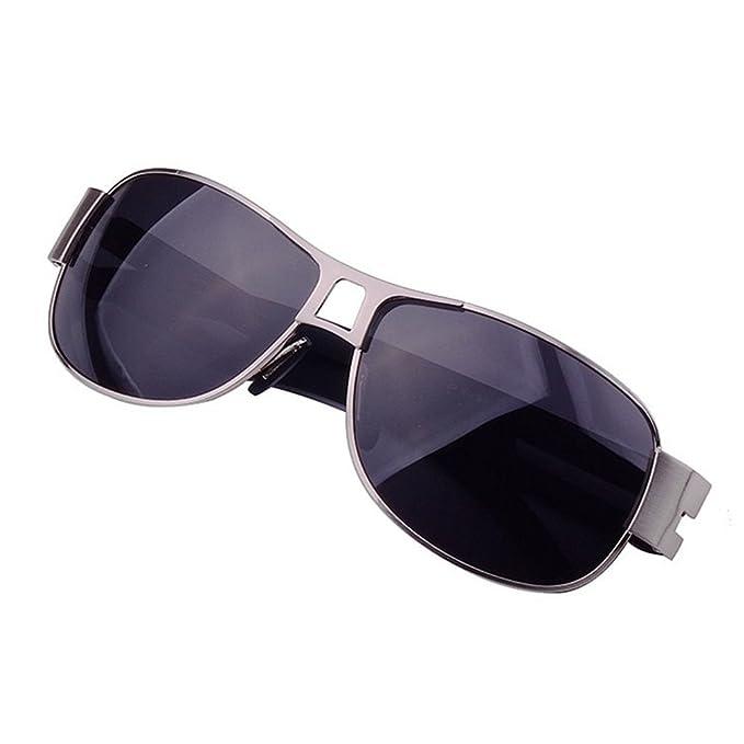 61ea5b8954d LOMOL Mens Classic Uv Protection Polarized Rectangular Metal Frame Driving  Sunglasses(C1)