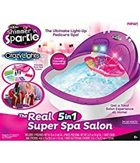 Amazon cra z art shimmer n sparkle crazy lights real 8 in crazy art shimmer n sparkle crazy lights 5 in 1 super spa by crazyt prinsesfo Image collections