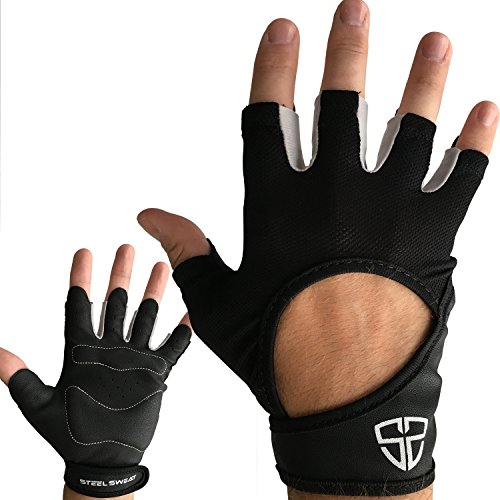 Steel Sweat CrossFit Gloves - Best for WoD Cross Training, Cycling, Gym & Fitness Workouts for Men and Women - ARMIN Small