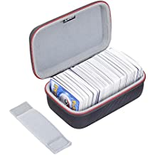 RLSOCO Carrying Case for Pokemon Trading Cards /Pokemon TCG/ UNO Card Game/ Phase 10 Card Game- Holds Up to 400 Cards(Cards Not Included)