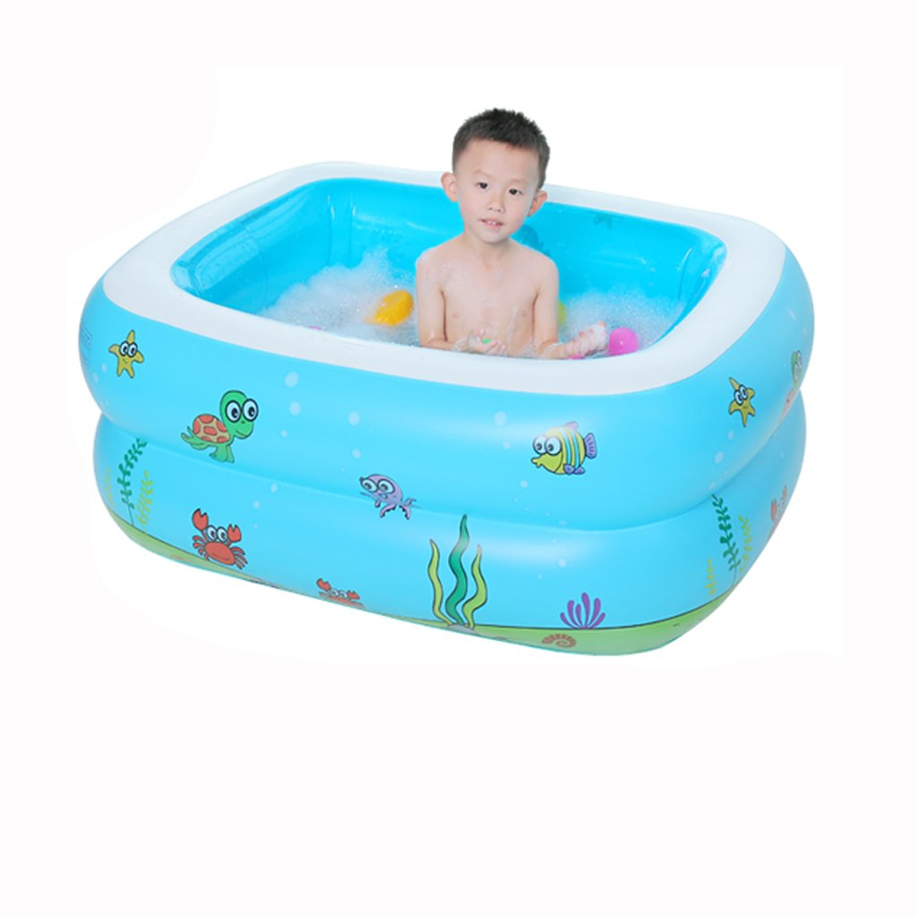 Child Inflatable Bathtub can take Large Folding Adult SPA Inflatable Bathtub, Home Toddler Baby Swimming Pool Inflatable tub (Blue) HUACNAG (Size : S)