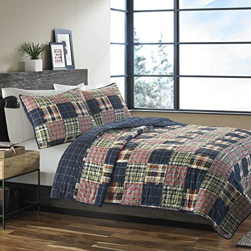 (Eddie Bauer Madrona Quilt Set, Full/Queen, Red)