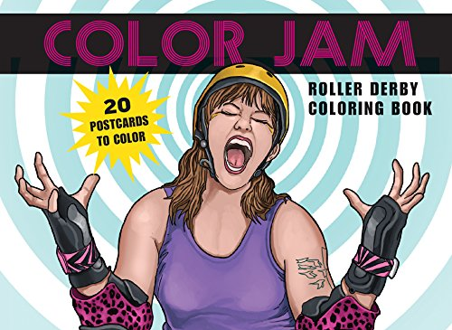 Color Jam Roller Derby Coloring Book