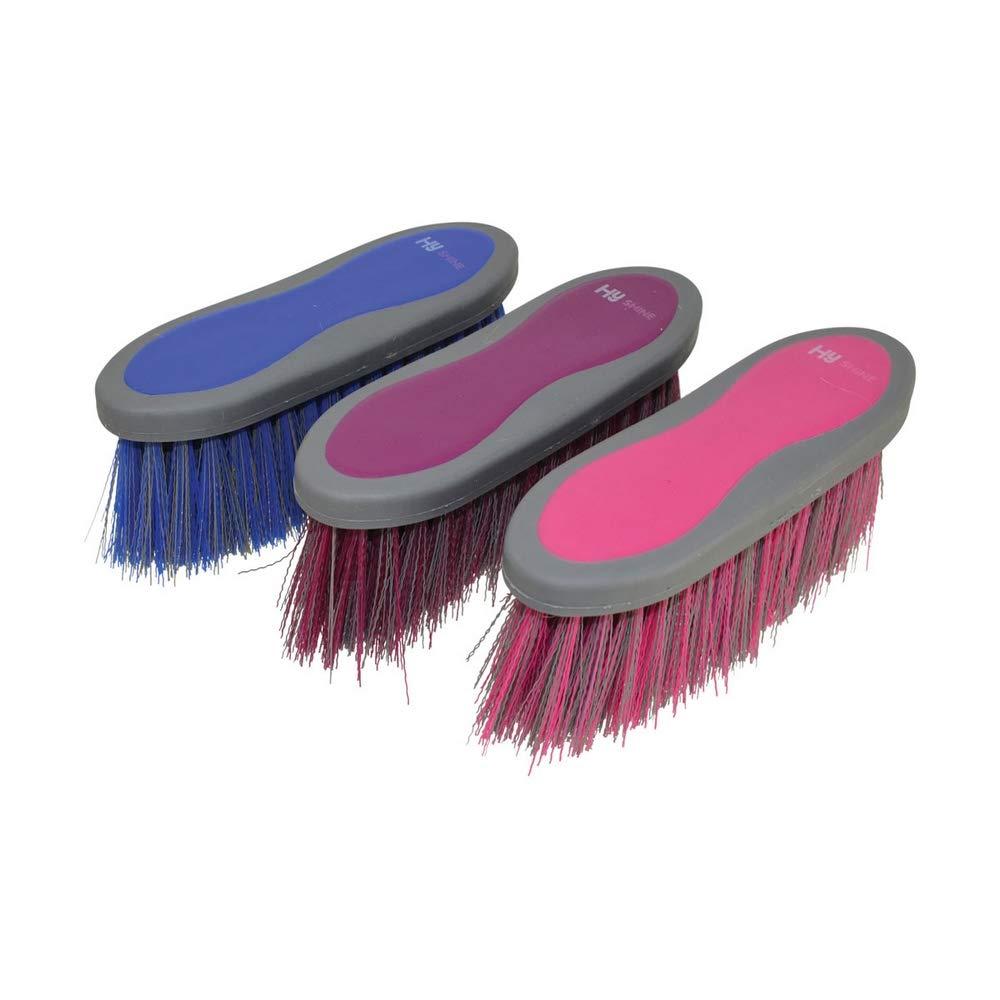 One Size Bubblegum Pink HySHINE Active Groom Long Bristle Dandy Brush