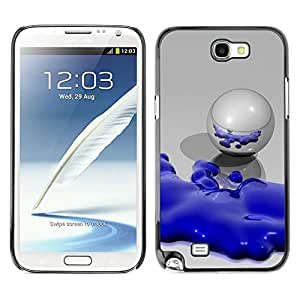 LASTONE PHONE CASE / Slim Protector Hard Shell Cover Case for Samsung Note 2 N7100 / Abstract Blue Robot