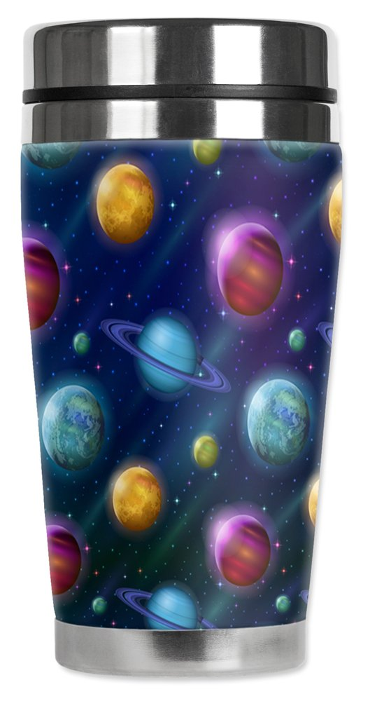 Mugzie 16 Ounce Stainless Steel Travel Mug with Wetsuit Cover - Solar System