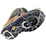 YUEDGE 12 Spikes Stainless Steel Ice Snow Traction Cleat Grips Crampons