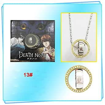 Ihbuy HOT Japanese Anime Cosplay Rhinestone Golden Double Ring Necklace Accessory (#13 death note L)