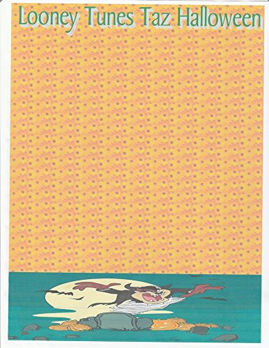 Halloween Looney Tunes Taz Stationery Printer Paper 26 -
