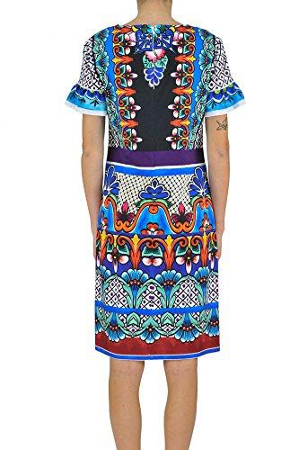 Alberta Ferretti Damen MCGLVS003023E Multicolour Baumwolle Kleid uyWCa