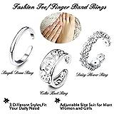 Besteel 3Pcs Toe Rings for Women Girls Adjustable