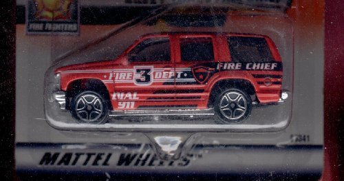 Matchbox 1999-28 of 100 Series 6 Fire Fighters Chevy Tahoe Chief 1:64 Scale by Matchbox (Matchbox Chevy Tahoe)