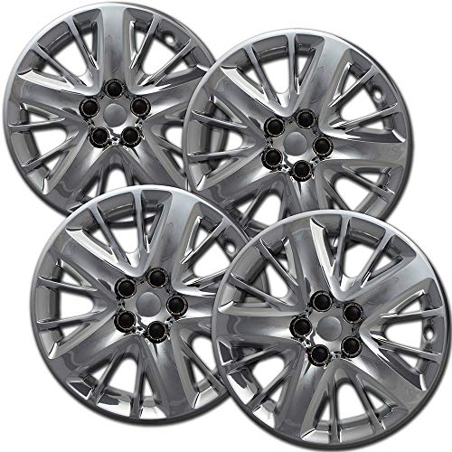 (OxGord Hubcaps for 18 Inch Wheels (Pack of 4) Wheel Covers - Silver)