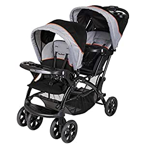 Baby Trend Sit N Stand Double Stroller - Black and Grey, 14.74 kg - SS76203
