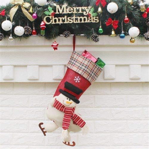 FidgetFidget Sock Decoration Santa Claus Candy Bag Stocks Stocking ()