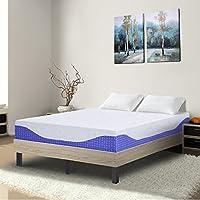 Sleeplace SVC10FM08F Mattresses, Full, White/Blue