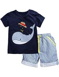 Little Boys' juegos de pantalones cortos de algodón para niños
