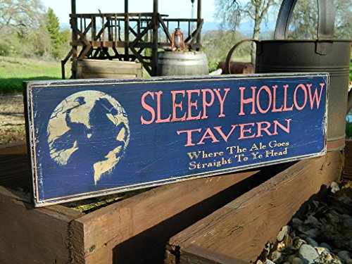Old Tavern Sign - rustic rhetoric signs Man Cave Country Primitive Distressed Wood Print Sign 7.25