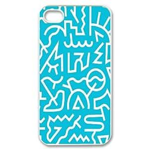 keith haring Design Top Quality DIY Hard Case Cover for iPhone 4,4S, keith haring iPhone 4,4S Phone Case