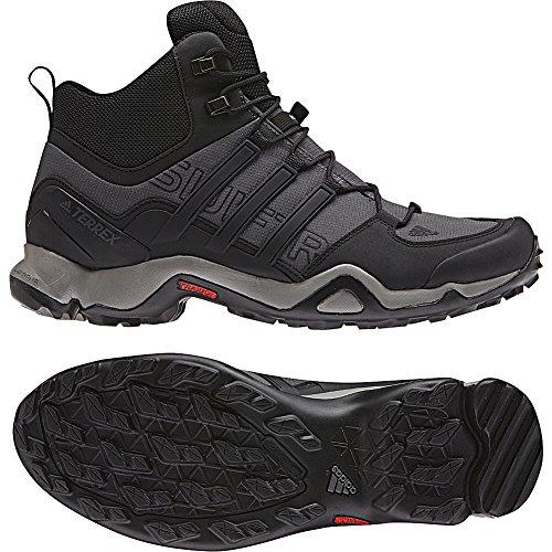Adidas Outdoor Mannen Terrex Swift R Mid Schoen Zwart / Zwart / Donkergrijs