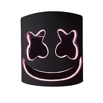 DJ: máscara de máscara LED para fiesta, casco de Marshmello ...