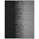 Safavieh Vintage Leather Collection VTL388C Light Grey and Black Area Rug, 5′ x 8′