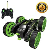 RC Stunt Car, Radio Control Racing Car 4 Channel Double Sided 360 Degree Spins Stunt Actions Cool Styling Vehicle with LED Lights Gift Toy for Kids