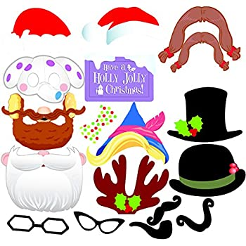 Amazon tinksky 62 pcs 2018 new years photo booth props for new tinksky christmas party photo booth props creative happy christmas pose sign kit for party decoration 17pcsset solutioingenieria Images