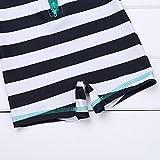 TiaoBug Baby Boys Girls One-Piece Zippered Striped