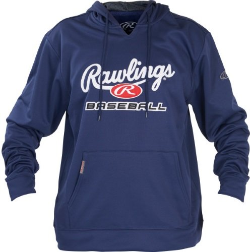 Rawlings Men's Fleece Hoodie, Navy/White, Small by Rawlings (Image #1)