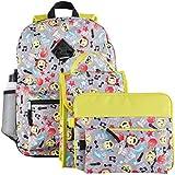 Kids Emoji 6 Piece Backpack & School Accessories Set