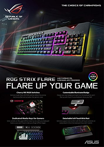 Asus ROG Strix Flare (Cherry MX Brown) RGB Wired Gaming Keyboard