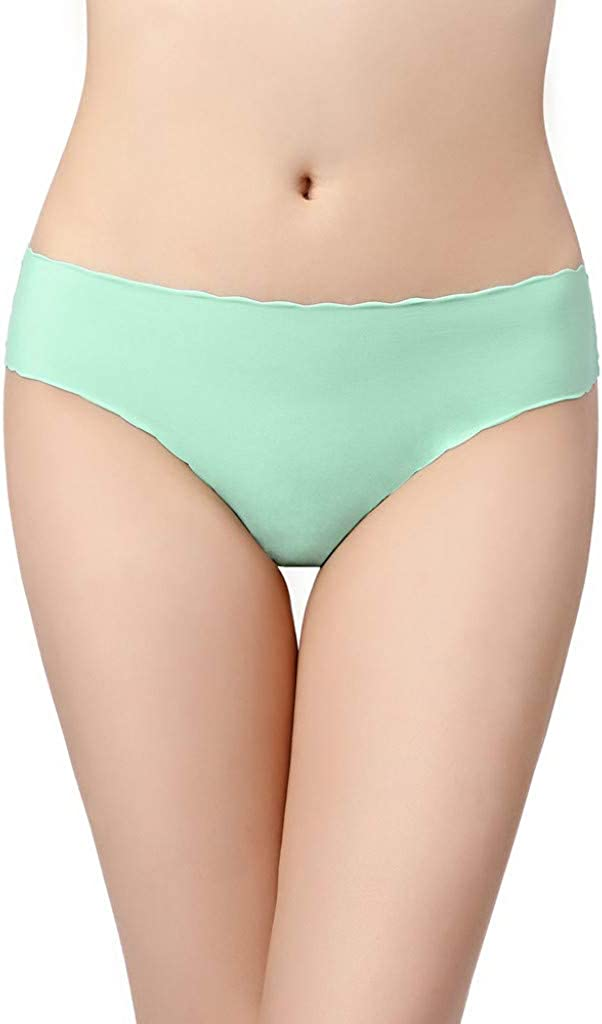 Anewoneson Womens No Show Panties Solid Briefs Stretchy Seamless Comfortable Lightweight Cute Lovely Sweet Underwear