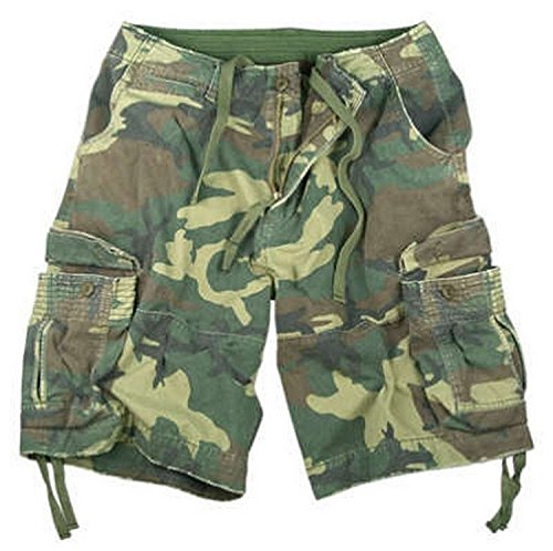 Rothco Vintage Infantry Shorts, Woodland, Large