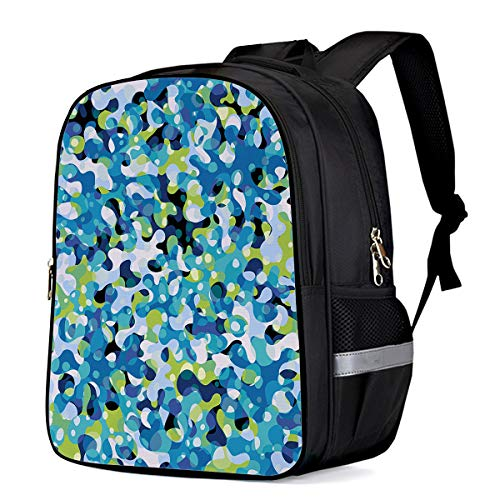 (Patriotic Camouflage Art Custom Students Backpack School Book Bags, Durable Laptop Computer Bag, Casual Daypack Travel Backpacks, Abstract Warrior Uniform)