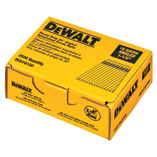 Dewalt DCA16150 1-1/2in. by 16 Gauge 20 Degree Angled Finish Nail 2,500/Box