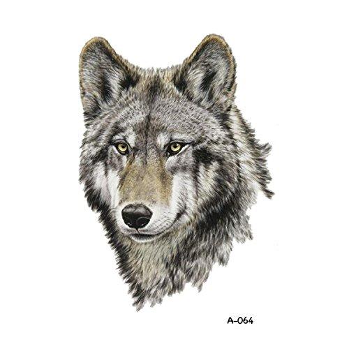 09704b72dc3ef WYUEN 5 Sheets Waterproof Temporary Tattoo Wolf Tattoo Sticker For ...