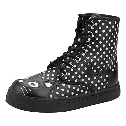 Tuk Tuk A8696l Größe 38 Schuhe Trepadeiras Leder Damen Sapatos Polca Schwarz Botas Pretas Gatinho Ponto Branco Nova Edição