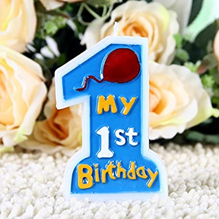 Partymane My 1st Birthday Candle for Baby Boys (Blue)