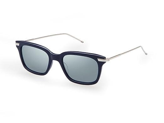1ad50805333f Sunglasses THOM BROWNE TB 701 H-T-NVY-SLV Navy-Silver w Dark Grey ...