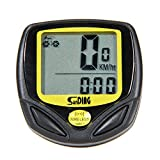 TTnight Bike Computer, LCD Digital Waterproof Bike Odometer Velometer Bicycle Speedometer