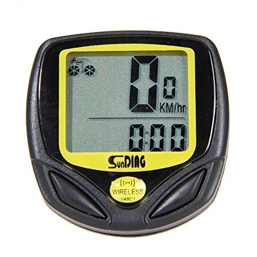 TTnight Bike Computer, LCD Digital Waterproof Bike Odometer Velometer Bicycle Speedometer by TTnight