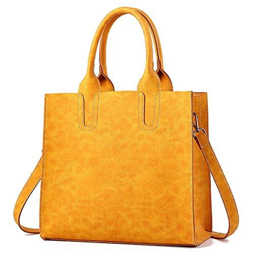 Poignée À sac Zm Sac Messenger Yellow Main Nouveau 2018 Bandoulière Mode Pu Lady vqqTf