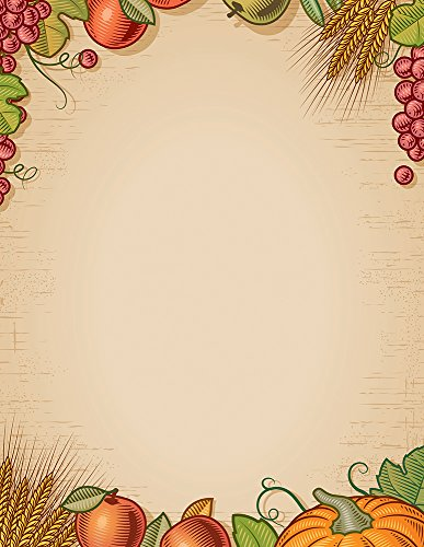 Great Papers! Fall Harvest Letterhead, 80 count, 11