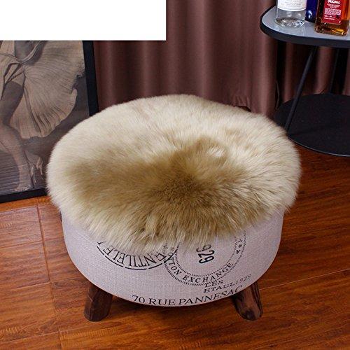 Thicken sheep plush cushion round mat / Office chair cushion / Sheepskin sofa cushion-A 40x40cm(16x16inch)