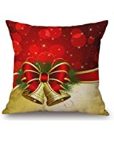 Gillberry Christmas Linen Square Throw Flax Pillow Case Decorative Cushion Pillow Cover (Beige H)